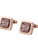 cheap -Geometric Golden Cufflinks Copper Classic / Basic Men's Costume Jewelry For Gift / Formal