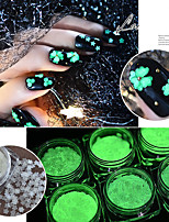 cheap -2pcs Artificial Nail Tips Glitter Powder Creative / Luminous / Adorable nail art Manicure Pedicure Glitters / Retro Wedding Party / Daily Wear