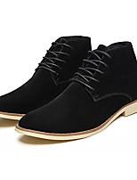 cheap -Men's Light Soles Suede Spring Boots Black / Dark Blue / Brown