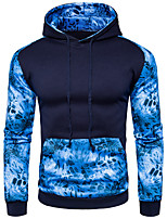 cheap -Men's Basic / Street chic Hoodie - Color Block, Print