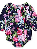 Недорогие -малыш Девочки Цветочный принт / С принтом Рукав до локтя Bodysuit