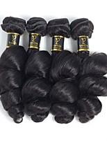 abordables -4 offres groupées Cheveux Indiens Ondulation Lâche Cheveux humains Tissages de cheveux humains / Bundle cheveux / One Pack Solution 8-28 pouce Couleur naturelle Tissages de cheveux humains Extention