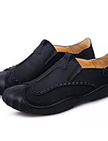 baratos -Homens Sapatos de Condução Pele Primavera Mocassins e Slip-Ons Preto / Castanho Claro / Khaki