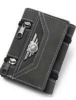 cheap -Men's Bags PU(Polyurethane) Wallet Zipper Black / Military Green / Yellow