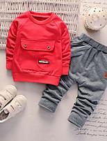 Недорогие -малыш Мальчики С принтом Длинный рукав Набор одежды