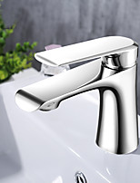 preiswerte -Waschbecken Wasserhahn - Verbreitete Chrom Mittellage Einhand Ein Loch