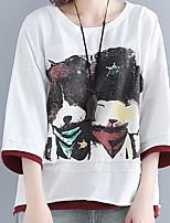 cheap -Women's Plus Size T-shirt - Geometric