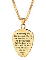 preiswerte -Herrn Seil Anhängerketten - Edelstahl Kreuz, Glauben Modisch Gold, Schwarz, Silber 55 cm Modische Halsketten 1pc Für Geschenk, Alltag
