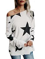 economico -T-shirt Per donna Moda città Con stampe, Fantasia geometrica