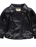 Недорогие -Дети / Дети (1-4 лет) Девочки Однотонный Длинный рукав Куртка / пальто