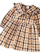 economico -Bambino (1-4 anni) Da ragazza Fantasia geometrica Manica lunga Vestito