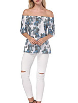 cheap -women's going out t-shirt - floral strapless