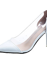baratos -Mulheres Sapatos Couro Ecológico Verão Plataforma Básica Saltos Salto Agulha Dedo Apontado Preto / Bege / Vermelho