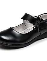 baratos -Para Meninos / Para Meninas Sapatos Pele Primavera / Outono Conforto Rasos para Branco / Preto