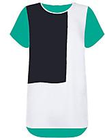 cheap -Women's Basic T-shirt - Color Block