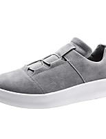 cheap -Men's PU(Polyurethane) Fall Comfort Sneakers Black / Gray / Khaki