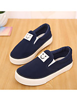 cheap -Boys' / Girls' Shoes Canvas Spring / Fall Comfort Loafers & Slip-Ons for Black / Blue / Burgundy