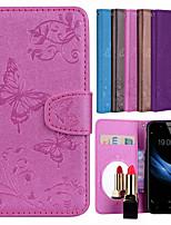 preiswerte -Hülle Für Vivo VIVO Y66 Kreditkartenfächer / Flipbare Hülle / Muster Ganzkörper-Gehäuse Solide / Schmetterling Hart PU-Leder für VIVO Y66