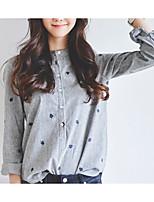 cheap -Women's Vintage Shirt - Solid Colored / Geometric Black & White, Tassel