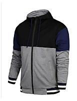 cheap -Men's Basic Hoodie Jacket - Color Block