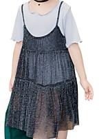 economico -Bambino Da ragazza Tinta unita Mezza manica Vestito