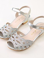 cheap -Girls' Shoes PU(Polyurethane) Summer Comfort / Flower Girl Shoes Sandals for Gold / Silver / Pink