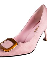 Недорогие -Жен. Обувь Полиуретан Лето Туфли лодочки Обувь на каблуках На каблуке-рюмочке Заостренный носок Черный / Розовый