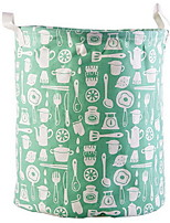 cheap -Fabric Round New Design Home Organization, 1pc Laundry Bag & Basket