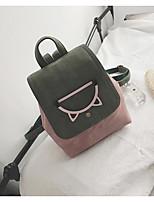 Недорогие -Жен. Мешки PU рюкзак Однотонные Черный / Розовый / Желтый