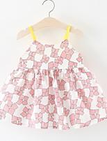 Недорогие -малыш Девочки С принтом Без рукавов Платье