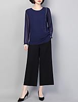 economico -Per donna Essenziale / Moda città Set Tinta unita Pantalone