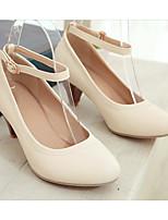 preiswerte -Damen Schuhe PU Frühling / Herbst Komfort / Pumps High Heels Stöckelabsatz Schwarz / Beige / Rosa