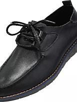 Недорогие -Муж. Наппа Leather / Кожа Весна Удобная обувь Туфли на шнуровке Черный / Коричневый / Синий