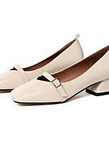 abordables -Femme Chaussures Cuir Nappa Printemps Confort Chaussures à Talons Talon Bottier Beige / Amande