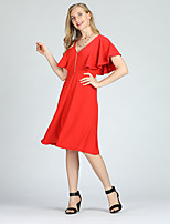 cheap -Suzanne Betro Women's Street chic A Line / Sheath / Swing Dress - Solid Colored