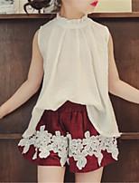 Недорогие -Дети Девочки Однотонный Без рукавов Набор одежды