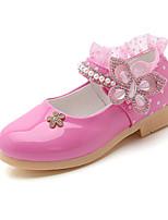 Недорогие -Девочки Обувь Полиуретан Наступила зима Детская праздничная обувь На плокой подошве Для прогулок Пряжки для Дети Пурпурный / Красный / Розовый