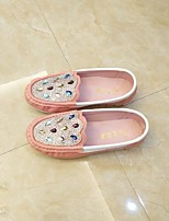 cheap -Girls' Shoes PU(Polyurethane) Spring & Summer Comfort Flats Walking Shoes Rhinestone / Sparkling Glitter for Teenager White / Pink