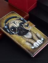 Недорогие -Кейс для Назначение Apple iPhone X / iPhone 8 Plus Кошелек / Бумажник для карт / со стендом Чехол С собакой Твердый Кожа PU для iPhone X / iPhone 8 Pluss / iPhone 8