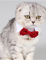 cheap -Dogs / Cats Tie / Bow Tie Bow Tie / Bowknot / Folding Color Block / Bowknot Cotton Red