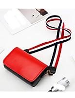 cheap -Women's Bags PU(Polyurethane) Shoulder Bag Solid Red / Yellow
