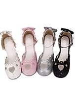 abordables -Chaussures Doux / Lolita Classique / Traditionnelle Princesse Talon Bottier Chaussures Etoiles 6.5 cm CM Noir / Argent / Rose Pour PU