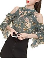 cheap -Women's Basic Blouse - Floral