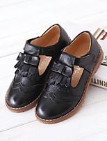 Недорогие -Девочки Обувь Кожа Весна & осень Удобная обувь На плокой подошве для Дети Белый / Черный / Красный