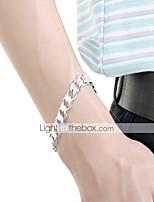 abordables -Homme Chaîne épaisse / Chaîne unique Chaînes & Bracelets - Plaqué argent Serpent simple, Basique Bracelet Argent Pour Quotidien / Travail