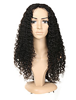 cheap -Human Hair Full Lace Wig Brazilian Hair Curly Wig Asymmetrical Haircut 130% / 150% / 180% Odor Free / Woven / New Arrival Black Women's Mid Length Human Hair Lace Wig / Fashion