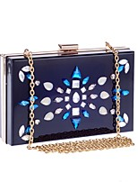 cheap -Women's Bags Acrylic Evening Bag Crystals Blue