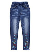 cheap -Kids Girls' Floral Jeans