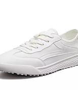 cheap -Men's Canvas / PU(Polyurethane) Fall Comfort Sneakers White / White / Green