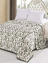 cheap -Coral fleece / Super Soft, Reactive Print Floral / Geometric Cotton / Polyester Blankets
